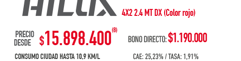 All new rio4 - incluye bono de $1.400.000(3) - a partir de $ 7.590.000(3)